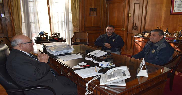 Bomberos de Cartagena se reunió con Presidente Nacional