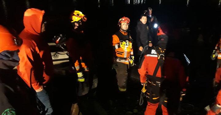 Grupo GERSA de Puerto Aysén recuperó cuerpo de joven desde río