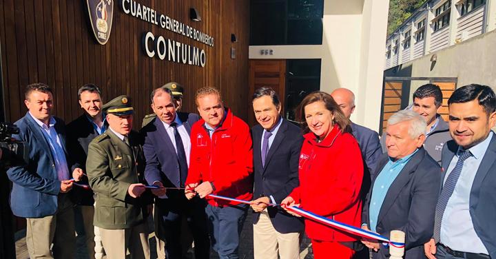 Cuerpo de Bomberos de Contulmo cuenta con nueva infraestructura y equipamiento