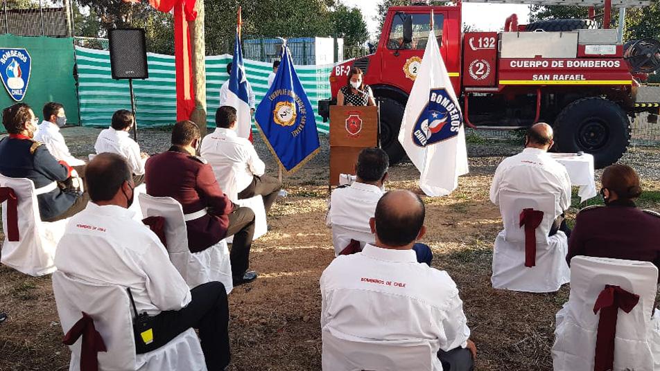 "Segunda Compañía de San Rafael recibe bomba forestal ""Unimog"" en reasignación"