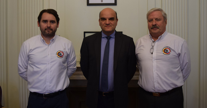 Presidente Nacional se reúne con directiva de la Confederación de Compañías Chileno-Alemanas de Bomberos
