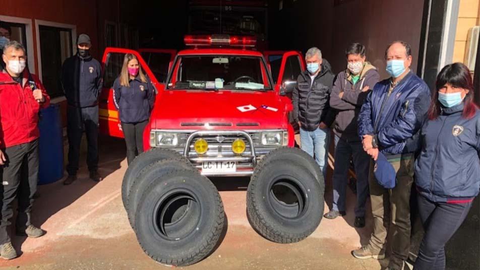 Forestal Volterra realizó importante donación a Bomberos de Cañete
