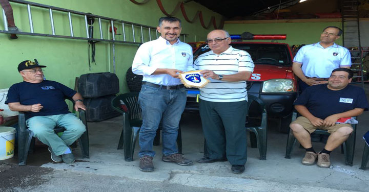 Presidente Nacional visitó 3ª Compañía de Cerro Negro