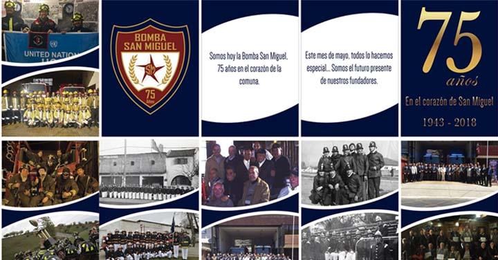 Bomba San Miguel cumple 75 años de  vida institucional