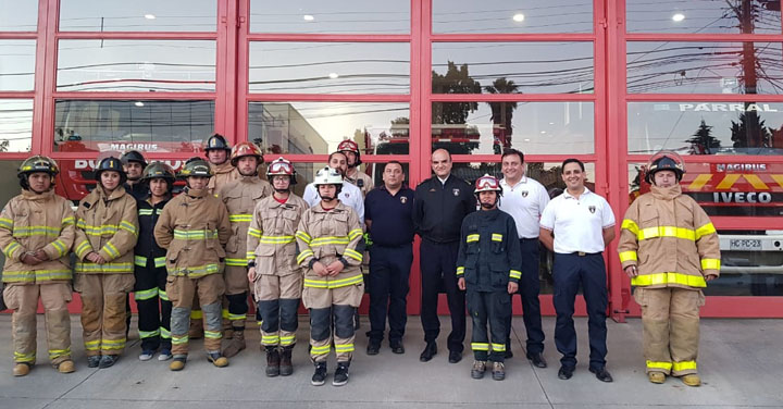 Presidente Nacional De Bomberos de Chile visitó Cuerpo De Bomberos Parral