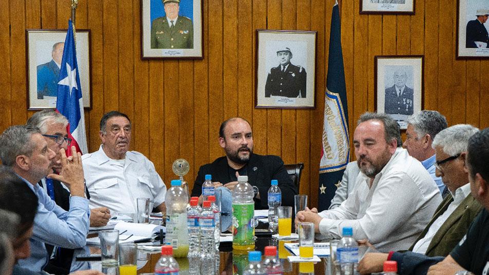 Bomberos de Coquimbo se reunió con el alcalde de la comuna