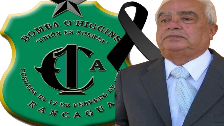 CB de Rancagua informa fallecimiento de Bombero Insigne de Chile don Ariel de la Barra Musse (Q.E.P.D.)