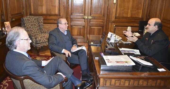Presidente Nacional de Bomberos recibió a Gerente de USAID OFDA