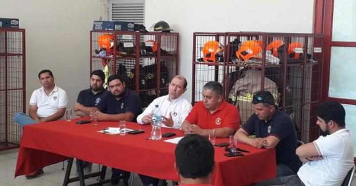 Claudio Araya es el nuevo Comandante Regional de Bomberos de O'Higgins