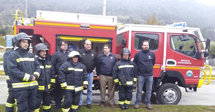 Presidente Nacional de Bomberos realizó visita a la zona sur de Aysén