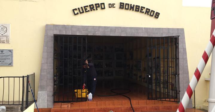 Bomberos de Antofagasta denuncia actos vandálicos al interior del mausoleo de la institución