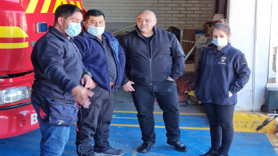 Visitan Cuartel General de Los Vilos para revisar daños estructurales