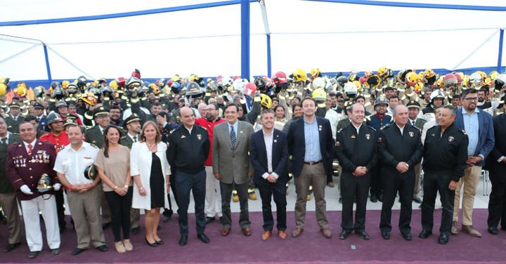 Importante inversión en equipos de protección personal recibió bomberos de la Región de O'Higgins