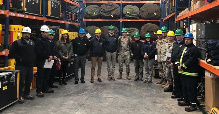 Reunión de la Comisión de Enlace Logístico entre el EMCO y Bomberos de Chile