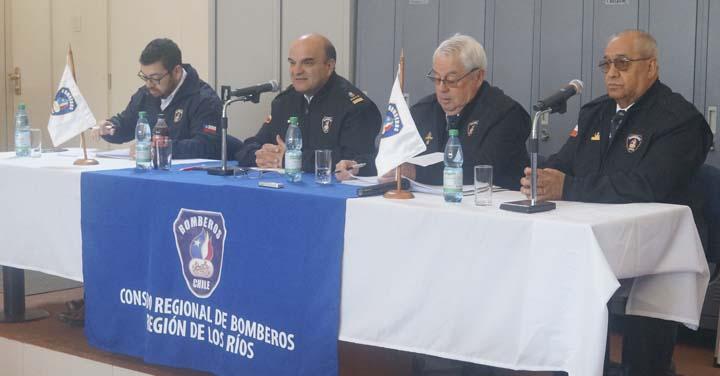 Presidente Nacional de Bomberos visita Región de Los Ríos