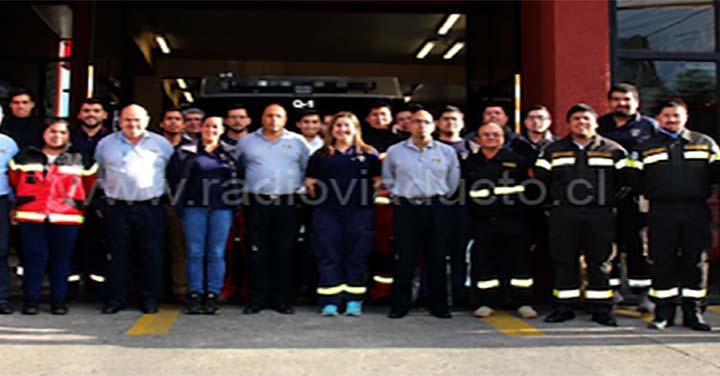 Bomberos de Temuco, Vilcún, Nueva Imperial y Collipulli se capacitaron en Investigación de Incendios