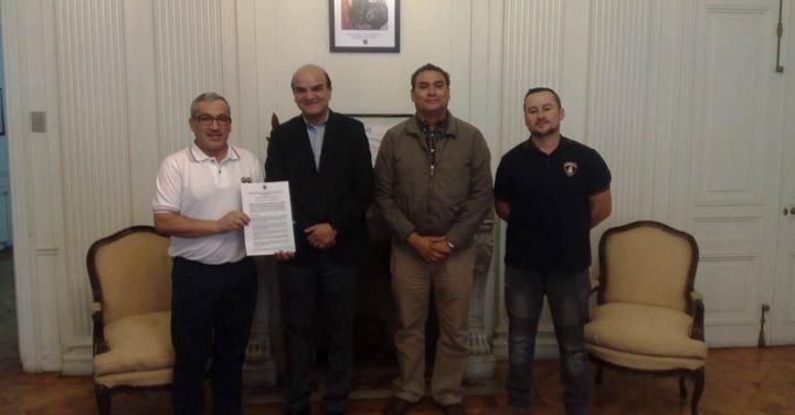 Presidente Nacional de Bomberos se reunió con Cuerpo de Bomberos de Contulmo