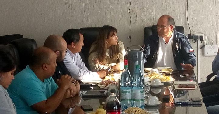 Reunión de coordinación del Desafío Bomberos de Chile en la ciudad de Chillán