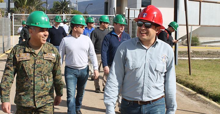 Delegación de la Academia de Guerra visitó el centro de entrenamiento de la ANB