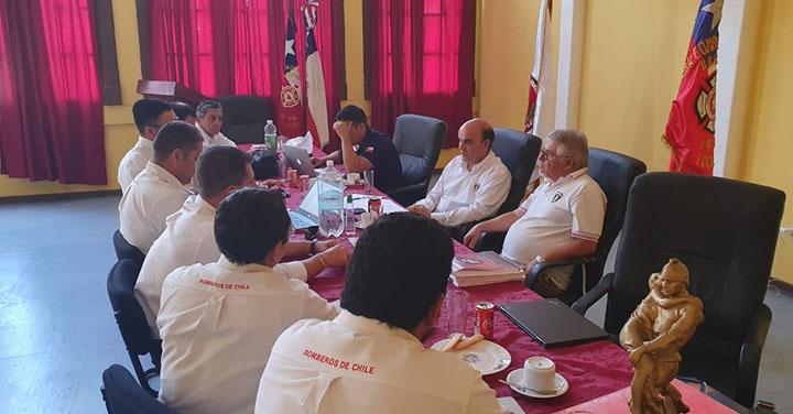 Presidente Nacional visitó diferentes Cuerpos de Bomberos de la Región de Antofagasta