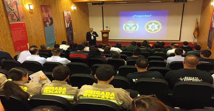 Sexta Compañía de Curicó organizó Seminario Técnico de Rescate Vehicular