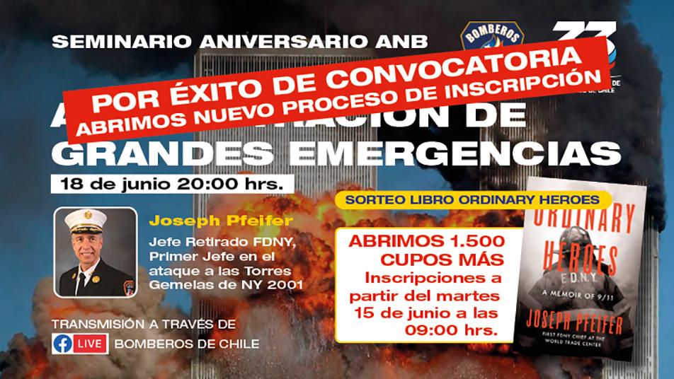 """Seminario ANB: """"Administración de grandes emergencias"""""""