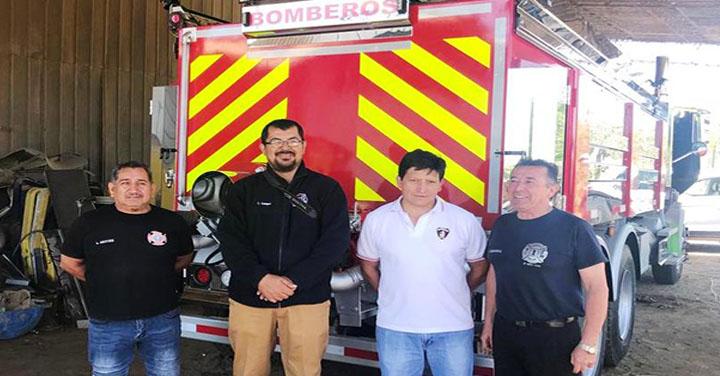Cuerpo de Bomberos de Hualañé recibirá nuevo camión aljibe