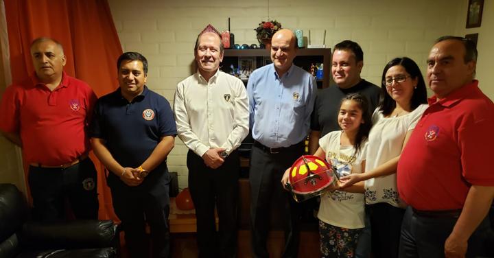 Presidente Nacional visitó al Capitán de Bomberos de Doñihue accidentado en un incendio forestal