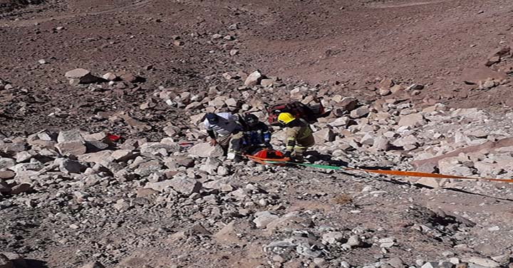 Bomberos de Huara concurrió a desbarrancamiento de automóvil con un fallecido