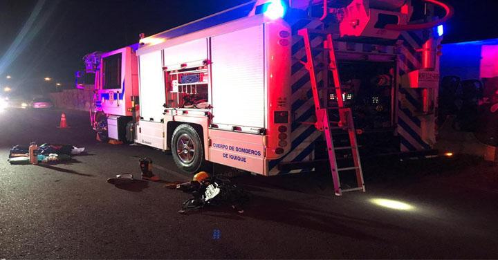 Voluntario de Iquique se encuentra grave tras ser atropellado durante una emergencia
