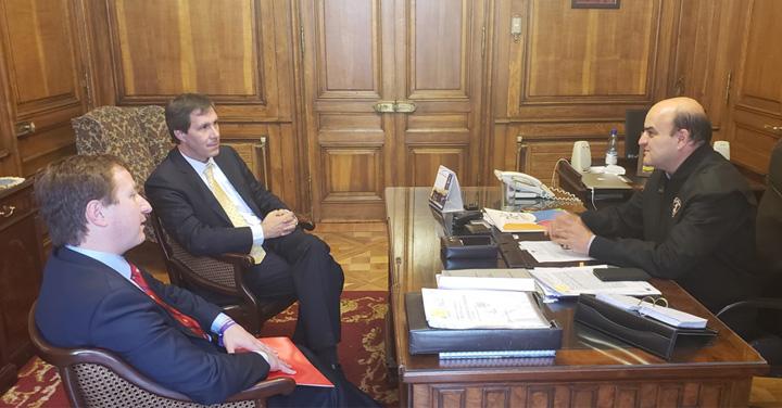 Presidente Nacional recibió a ejecutivos del Banco Santander