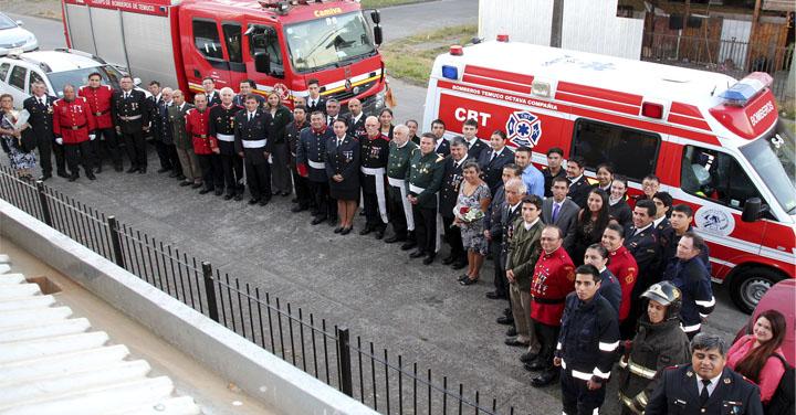 Octava Compañía de Bomberos de Temuco celebró su aniversario 36