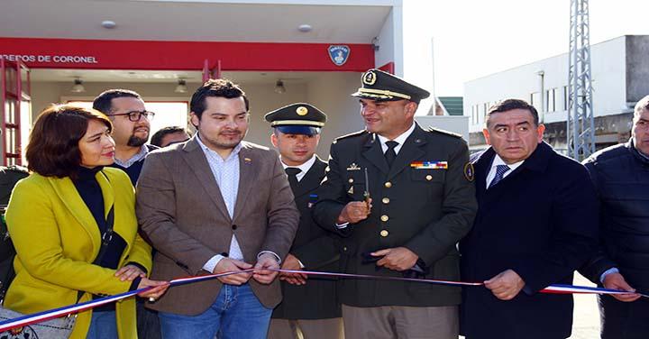 Presidente Nacional participó en inauguración del cuartel de la Quinta Compañía de Coronel