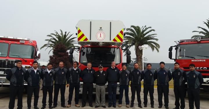 Cuerpo de Bomberos de Copiapó recibió material mayor