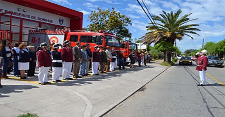 Cuerpo de Bomberos de Doñihue conmemoró un nuevo aniversario