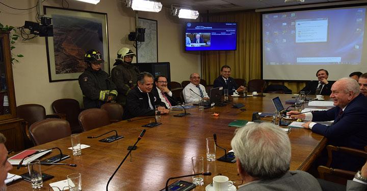 Comisión Bomberos de la Cámara de Diputados recibió al Cuerpo de Bomberos Metropolitano Sur
