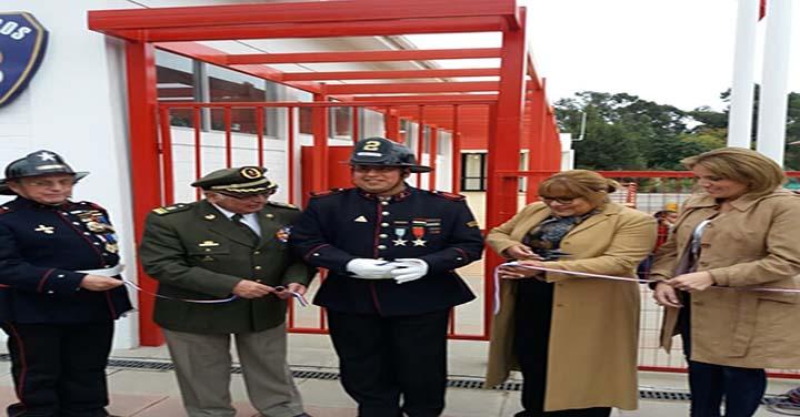 Presidente Nacional inauguró cuartel de la 2ª Compañía de Bomberos de Papudo