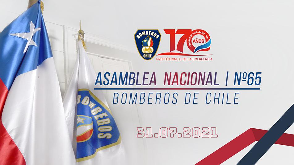 Sábado 31 de julio: Transmisión Asamblea N°65 Bomberos de Chile