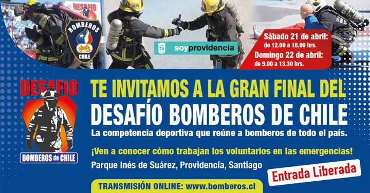 Transmisión online Gran Final Desafío Bomberos de Chile: 21 y 22 de abril