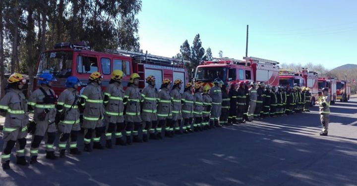 Bomberos de Santa Cruz  realizó capacitación en conjunto