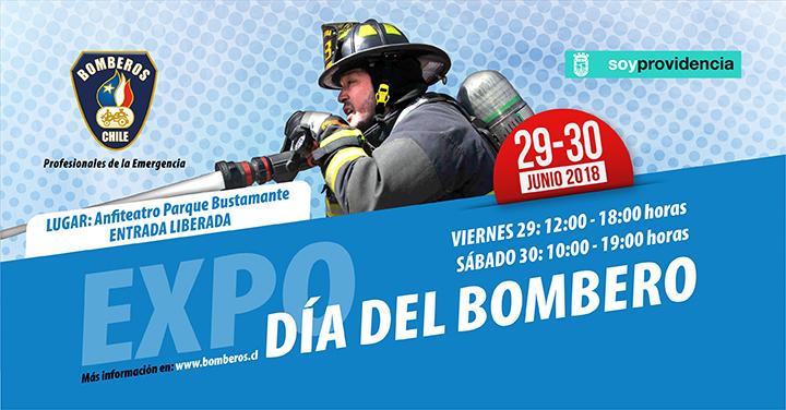 No te pierdas la EXPO Día del Bombero 2018