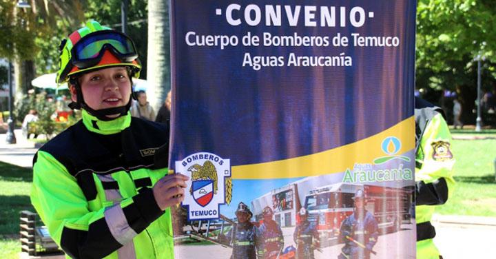 Bomberos de Temuco podrá recibir aportes en el pago de la cuenta del agua