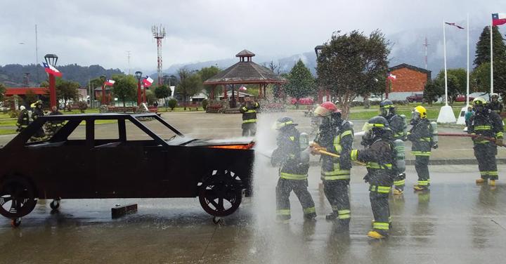 Simulador de fuego va por primera vez a capacitar a la provincia de Palena