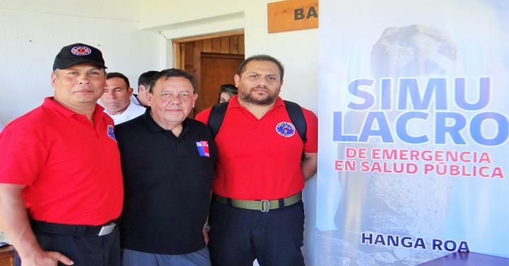 Departamento Médico Nacional y CB de Isla de Pascua participaron en simulacro de Reglamento Sanitario Internacional
