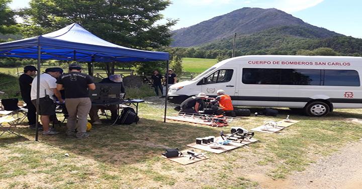 ONG Dron Sar Chile realizó capacitación al Cuerpo de Bomberos de San Carlos