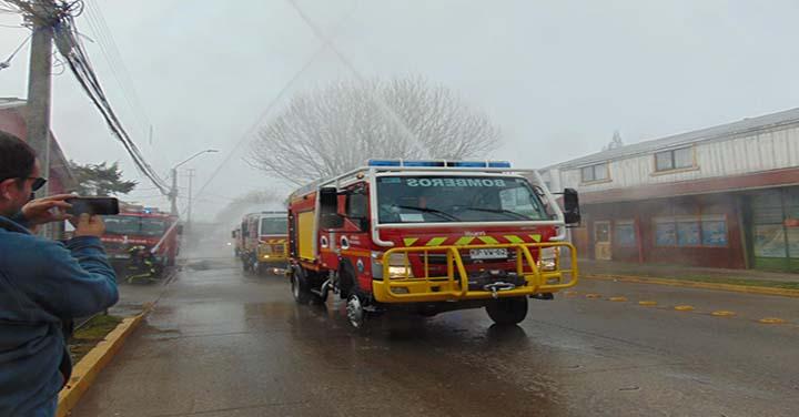 Entregan seis carros bomba en la Región de Aysén