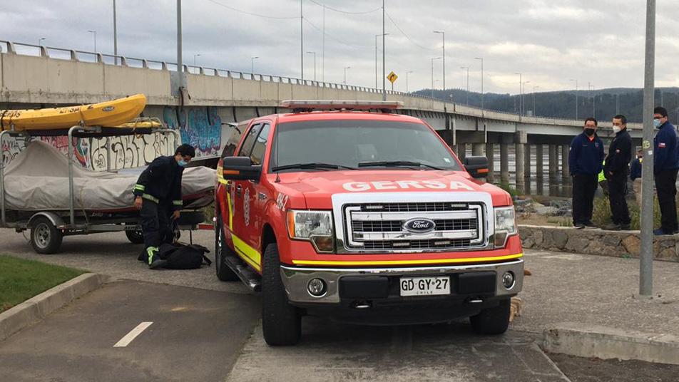 Equipo GERSA de Concepción y Hualpén se suman a la búsqueda de persona desaparecida en río Biobío