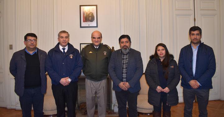 Presidente Nacional se reunió con Bomberos de Mulchén