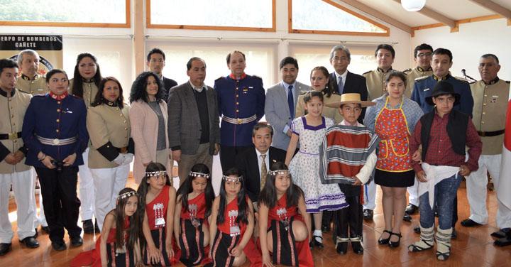 Quinta Compañía de Cayucupil recibe importante donación de la Embajada de Japón