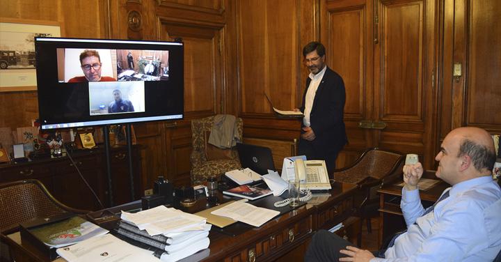 Presidente Nacional se reúne por primera vez en video conferencia con Superintendente de Bomberos de Coyhaique